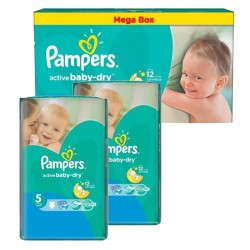 Pack Jumeaux 440 couches Pampers Active Baby Dry