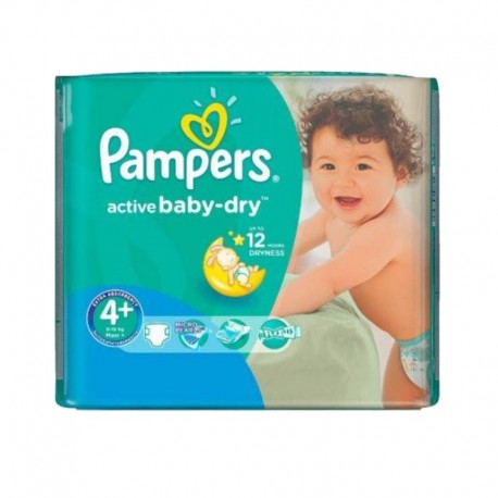 Pampers - Pack 70 Couches Active Baby Dry taille 4+ sur Couches Poupon