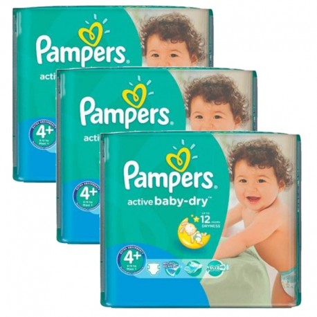Giga Pack 140 Couches Pampers Active Baby Dry sur Couches Poupon