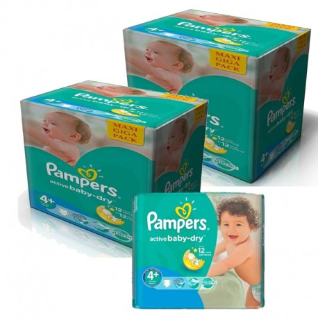 Pack Jumeaux 420 Couches Pampers Active Baby Dry sur Couches Poupon