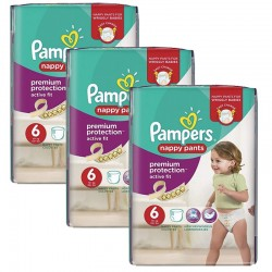 Pack 64 couches Pampers Active Fit Pants sur Couches Poupon