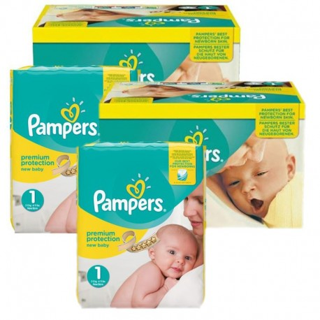 Maxi Mega Pack 384 couches Pampers New Baby Premium Protection sur Couches Poupon