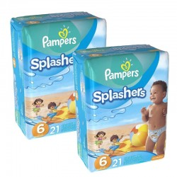 Pampers - Pack 42 Couches Swimming Pants Splachers taille 6 sur Couches Poupon