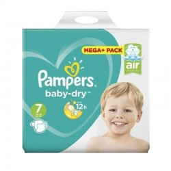 Pack 58 couches Pampers Baby Dry sur Couches Poupon