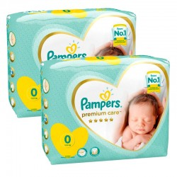 Pampers - Pack 60 Couches New Baby Premium Care taille 0 sur Couches Poupon