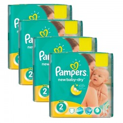 Pampers - Giga Pack 215 Couches New Baby Dry