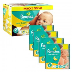 Pampers - Mega Pack 301 Couches New Baby Dry