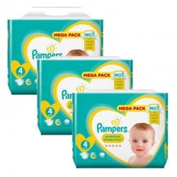 Giga Pack 246 Couches Pampers New Baby Premium Protection sur Couches Poupon