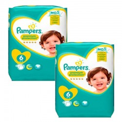 Pampers - Giga Pack 111 Couches New Baby Premium Protection taille 6 sur Couches Poupon