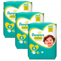 Pampers - Mega Pack 148 Couches New Baby Premium Protection taille 6 sur Couches Poupon