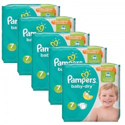 Maxi Mega Pack 210 couches Pampers Baby Dry sur Couches Poupon
