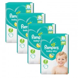 Maxi Mega Pack 216 couches Pampers Baby Dry sur Couches Poupon