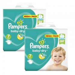Giga Pack 116 couches Pampers Baby Dry sur Couches Poupon