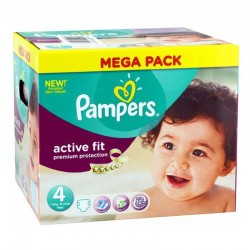 Pampers - Pack 82 Couches Active Fit - premium protection taille 4 sur Couches Poupon