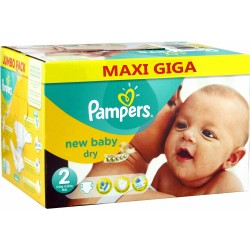 Pampers - Giga pack 258 Couches New Baby Dry sur Couches Poupon