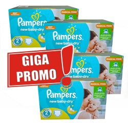 Pampers - Maxi mega pack 430 Couches New Baby Dry sur Couches Poupon
