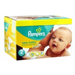 Pampers - Maxi mega pack 473 Couches New Baby Dry