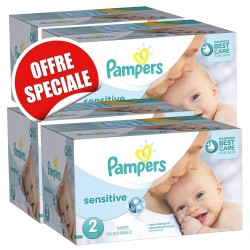 Pampers - Maxi giga pack 300 Couches New Baby Sensitive