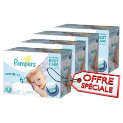 Pampers - Pack jumeaux 600 Couches New Baby Sensitive