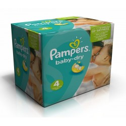 Pampers - Maxi giga pack 308 Couches Baby Dry taille 4