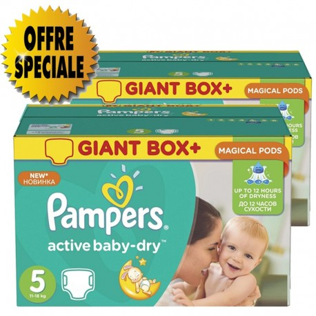 Pampers - Mega pack 116 Couches Active Baby Dry sur Couches Poupon