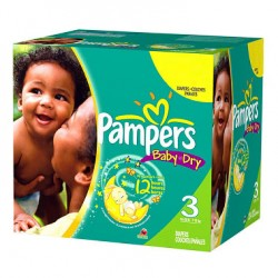 Baby Dry - 136 Couches Pampers taille 3