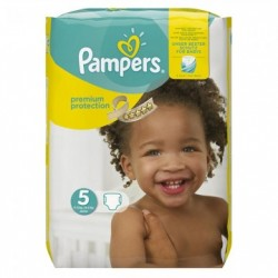 Pampers - Pack 30 Couches New Baby Premium Protection taille 5 sur Couches Poupon