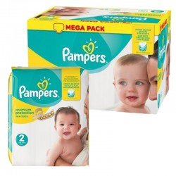 Pampers - Mega pack 155 Couches New Baby Premium Protection taille 2