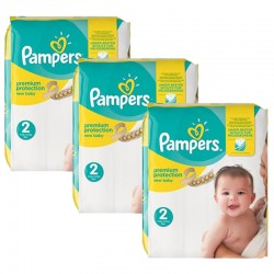 Pampers - Giga pack 248 Couches New Baby Premium Protection taille 2