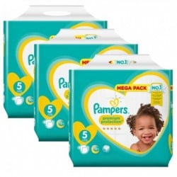 Pampers - Mega pack 150 Couches New Baby Premium Protection taille 5 sur Couches Poupon