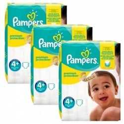 Pampers - Mega pack 100 Couches New Baby Premium Protection taille 4+ sur Couches Poupon