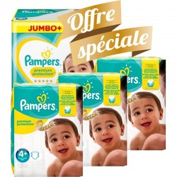 Pampers - Giga pack 200 Couches New Baby Premium Protection taille 4+ sur Couches Poupon