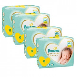 Pampers - Mega pack 120 Couches New Baby Premium Care taille 0