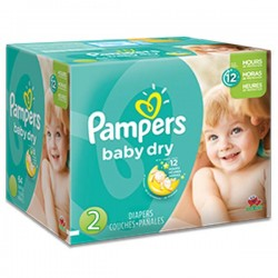 Maxi giga pack 368 Couches Pampers Baby Dry taille 2 sur Couches Poupon