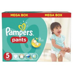 Pampers - Pack 66 Couches Baby Dry Pants taille 5 sur Couches Poupon