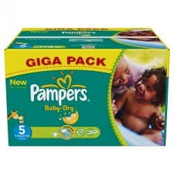 Pampers - Mega pack 110 Couches Baby Dry taille 5