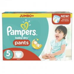 Pampers - Mega pack 104 Couches Baby Dry Pants taille 5 sur Couches Poupon
