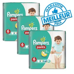 Pampers - Pack 98 Couches Baby Dry Pants taille 6 sur Couches Poupon