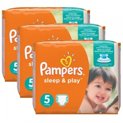 Pampers - Maxi mega pack Maxi mega pack Couches Sleep & Play taille 5