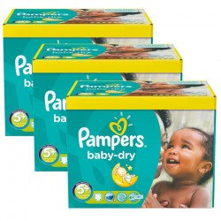 Pampers - Giga pack 224 Couches Baby Dry taille 5+ sur Couches Poupon